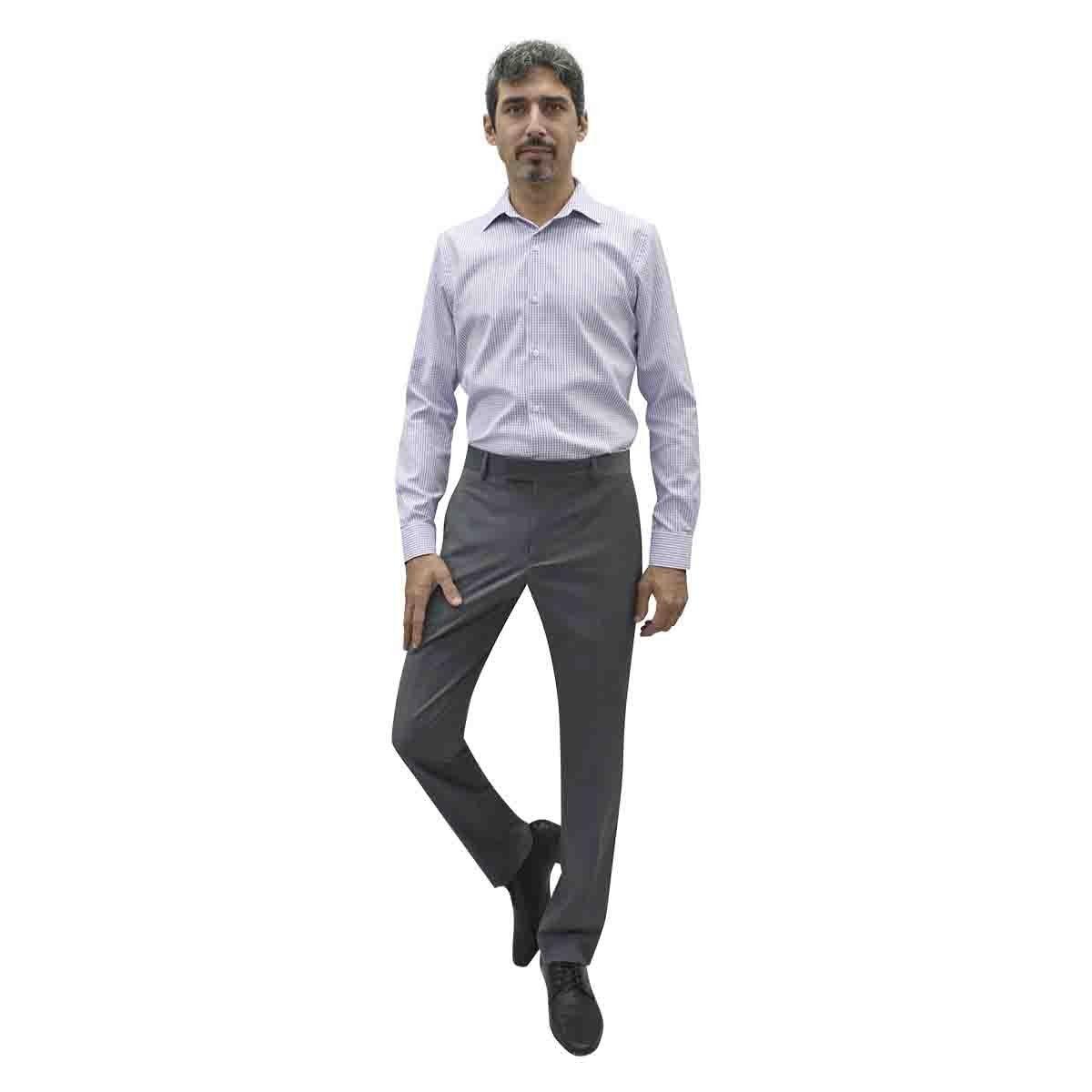 Camisa de Vestir Morada Combinada Ultra Slim Chaps. para Caballero