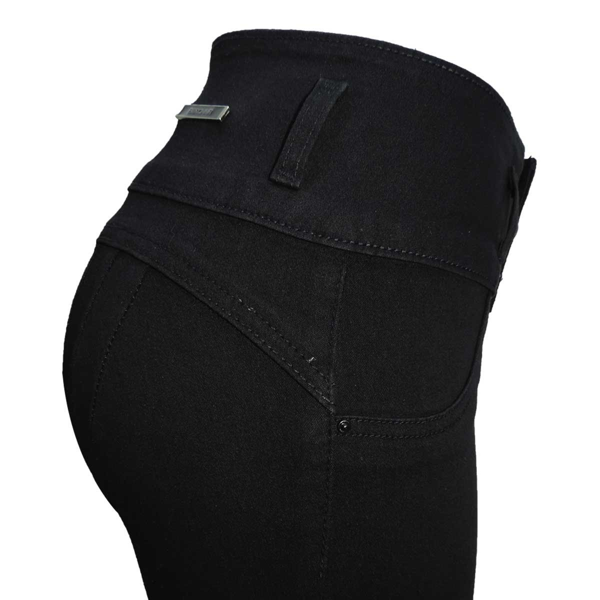 Jeans Skinny Pretina Ancha Sin Bolsa