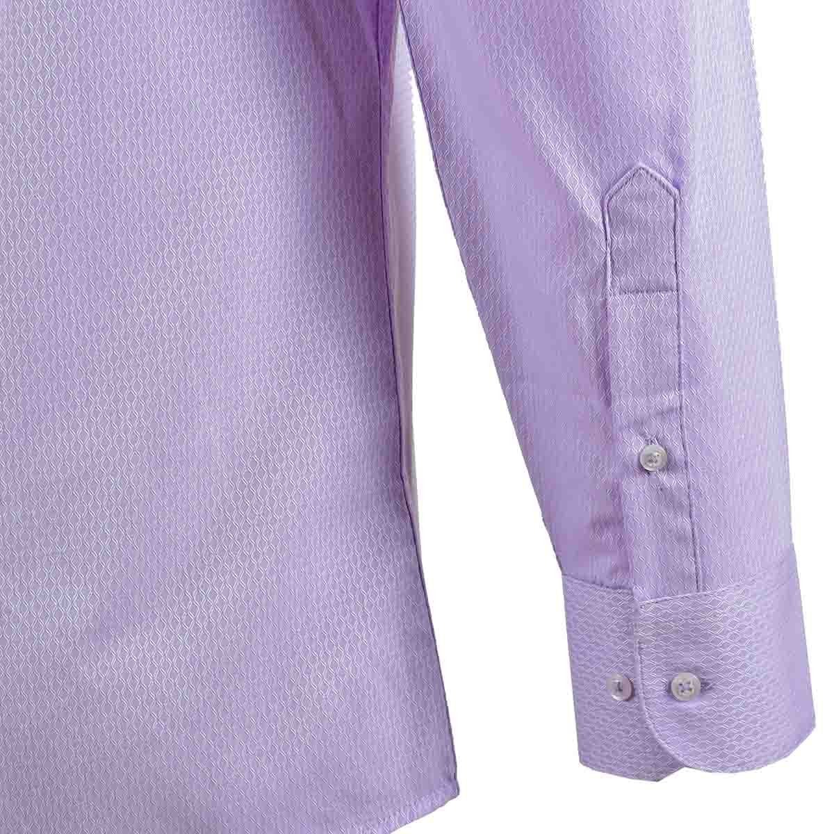 Camisa de Vestir Manga Larga Morado Claro Nina Ricci para Caballero