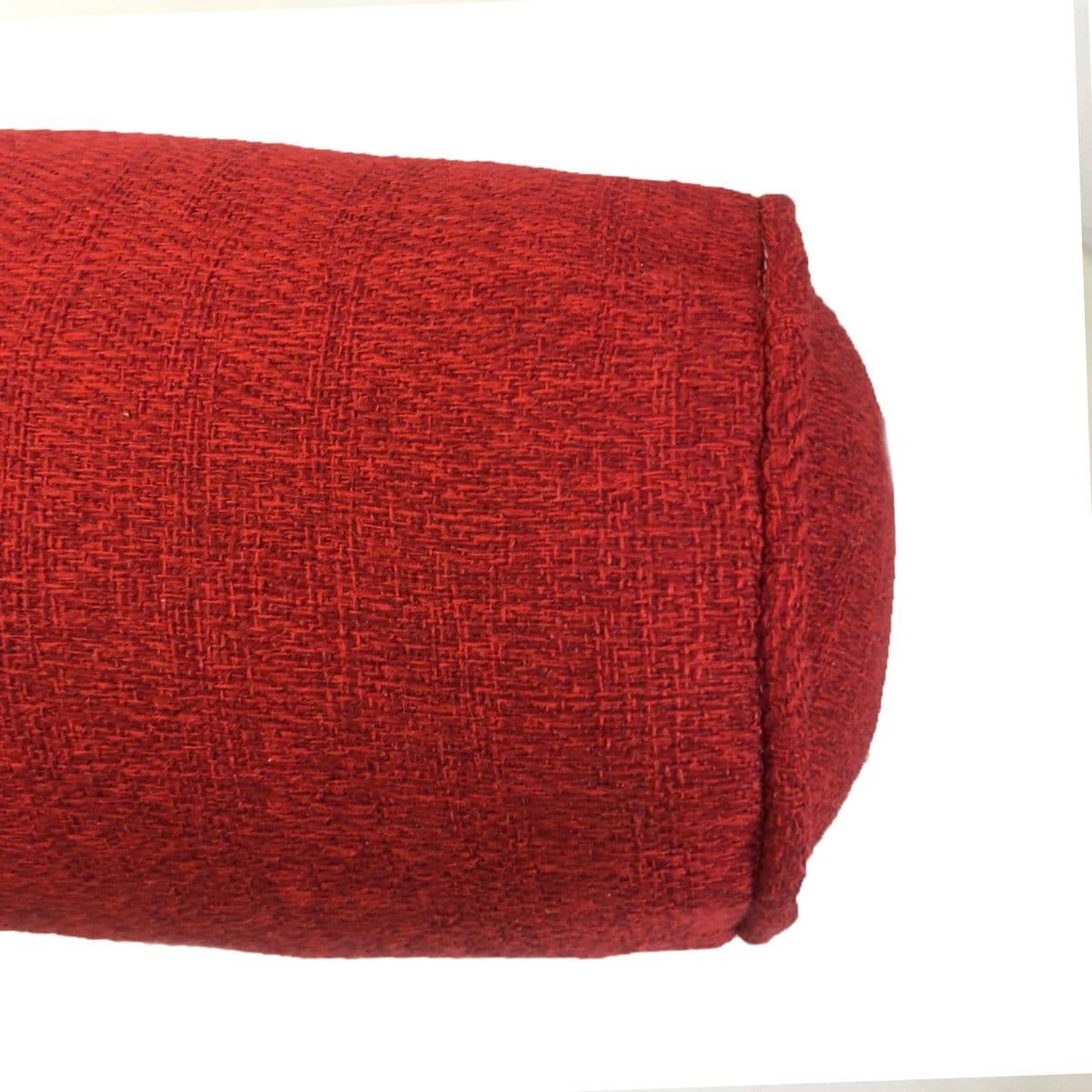 Cojín Cilindro 15 X 45 Ragnar Ruby Rojo Rojo Cassia