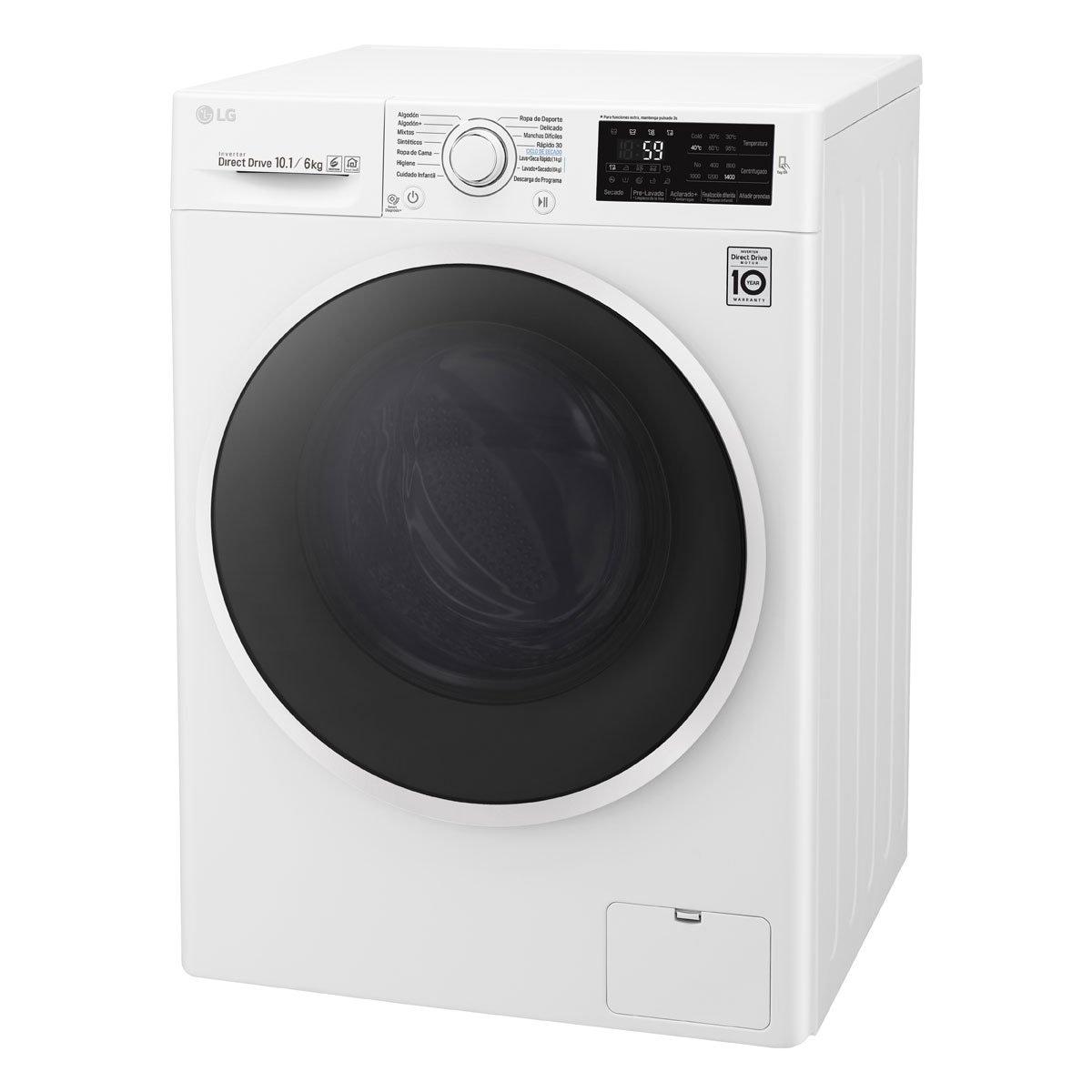 Lavasecadora Frontal 10.1/6 Kg Wd10Wb Lg