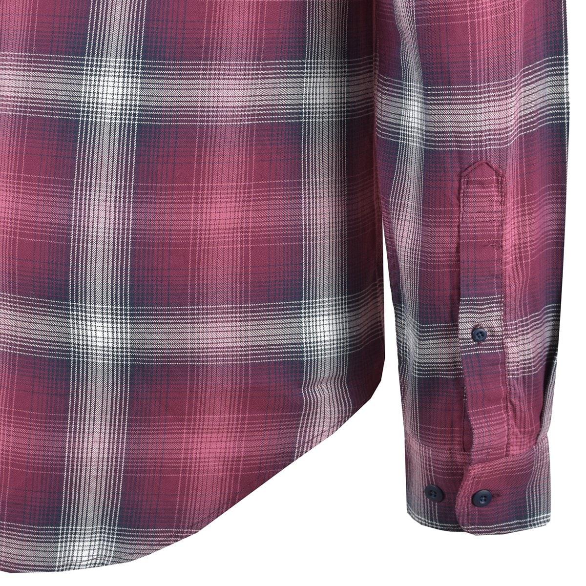 Camisa Manga Larga Cuadros Jeanious Plus Jnmx219-Oc0158