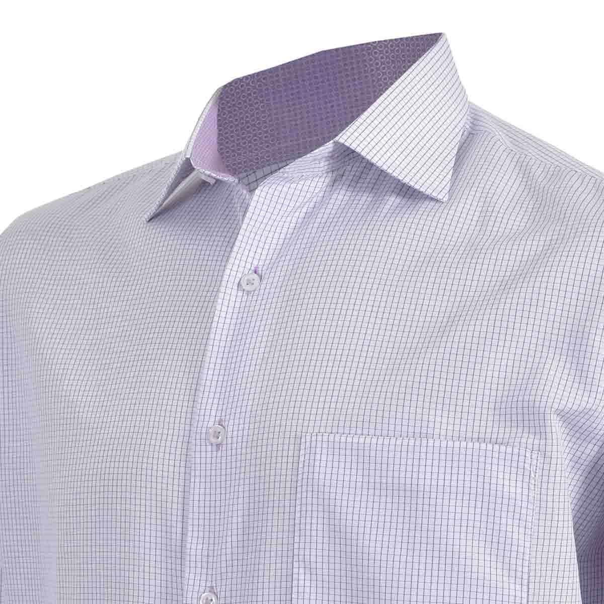 Camisa de Vestir Tradicional Morado Secf 07 Carlo Corinto