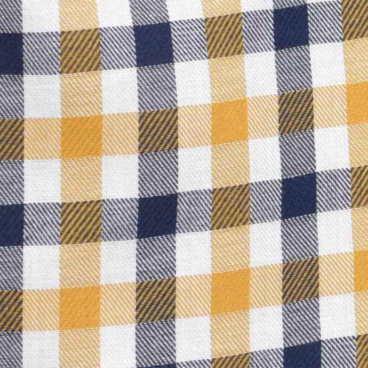 Camisa Manga Larga Casual Cuadros Amarillo Carlo Corinto para Caballero