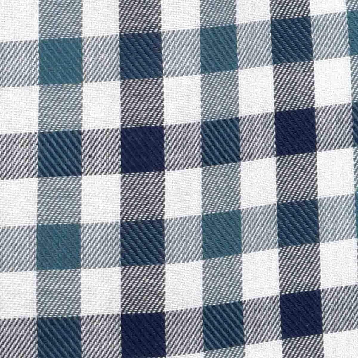 Camisa Manga Larga Casual Cuadros Verde Carlo Corinto para Caballero