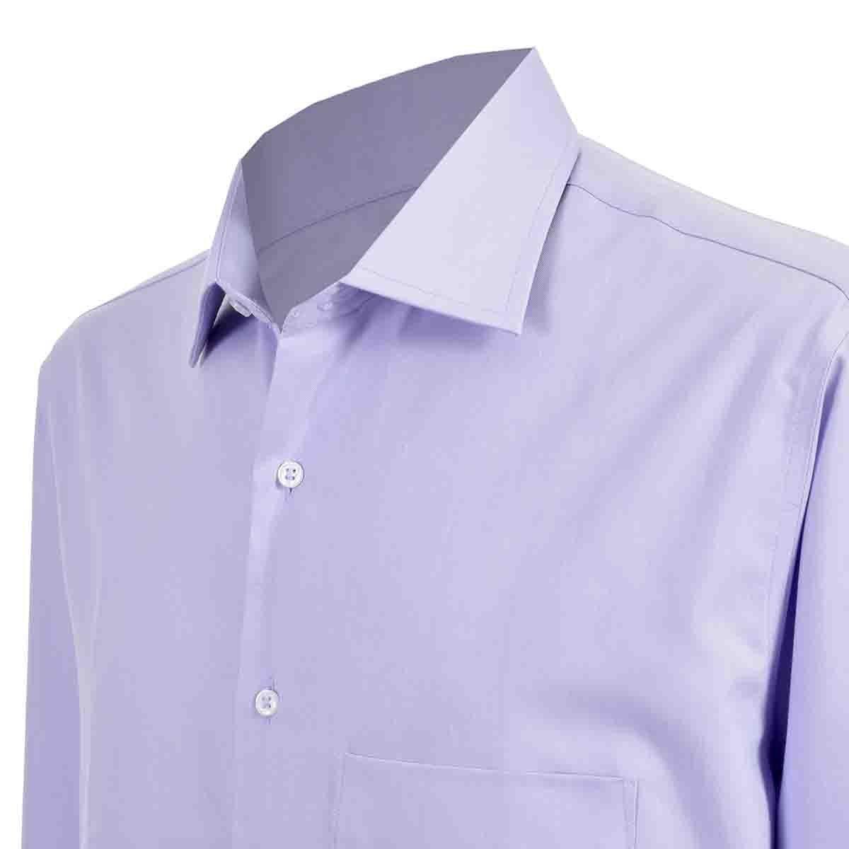 Camisa de Vestir Tradicional Morado Secf 08 Carlo Corinto