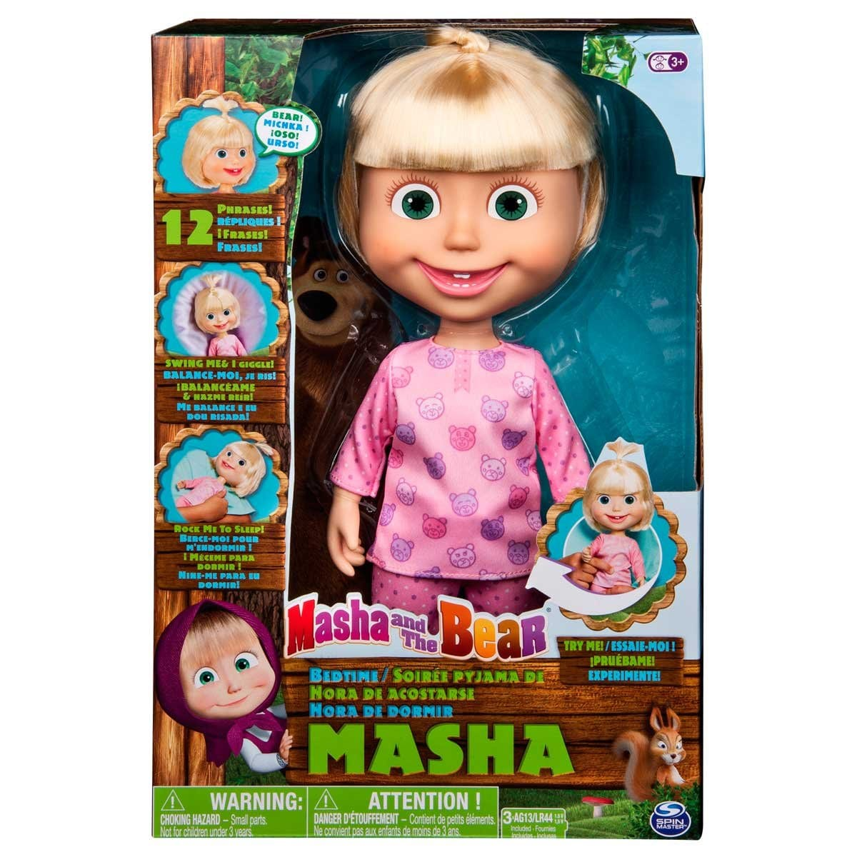 Muñeca Masha Hora de Dormir Spin Master