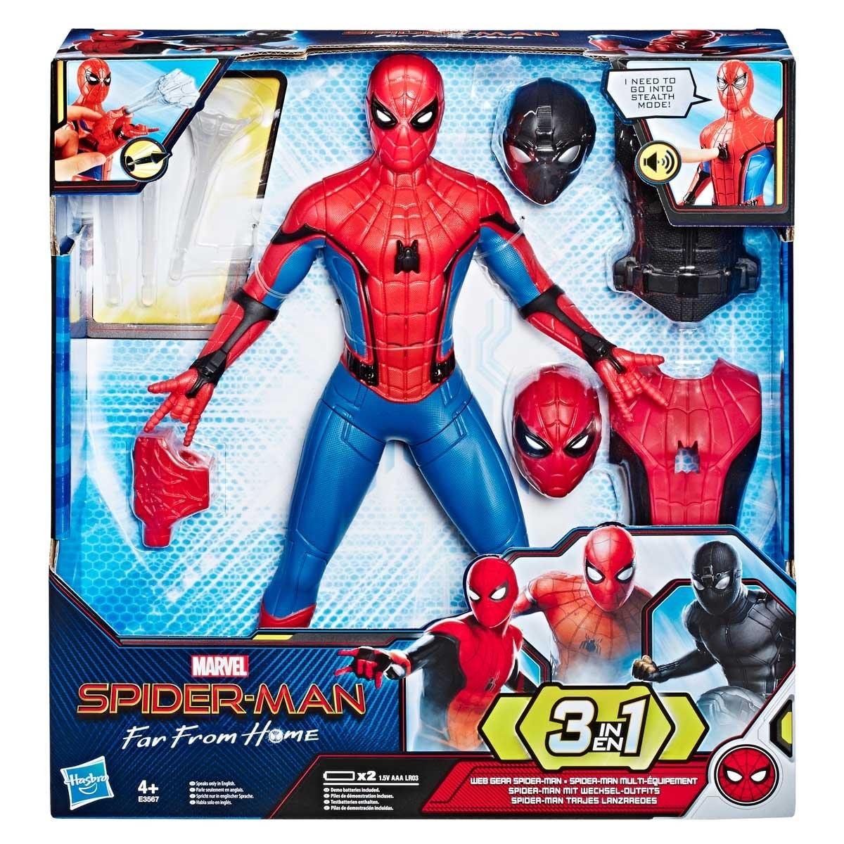Spiderman Defender 33cm Mu/ñeco Peluche Original Pelicula Comic Marvel