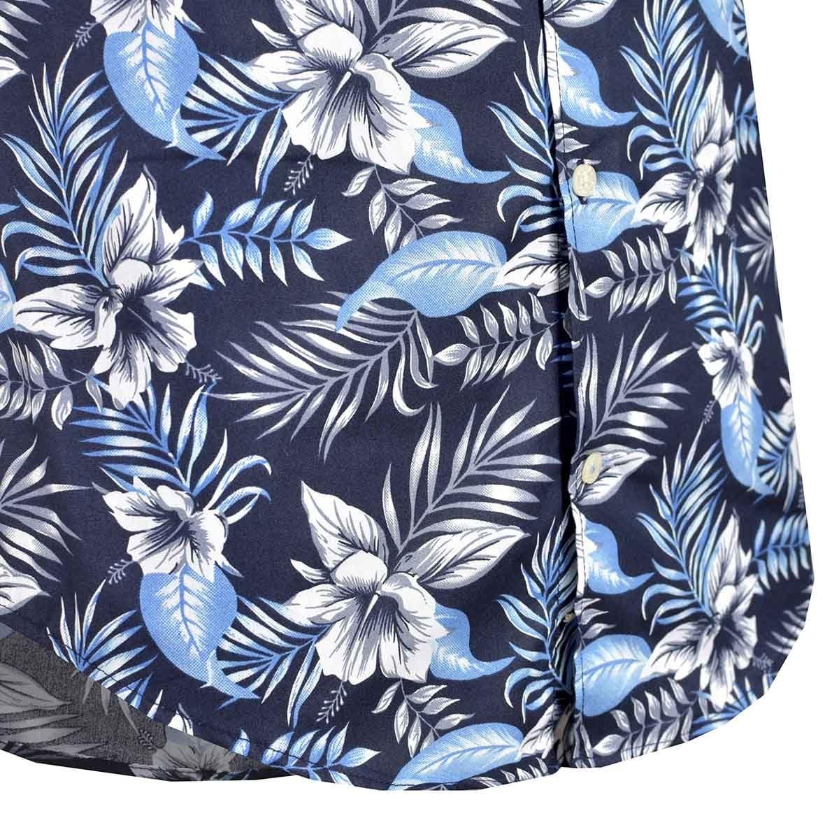 Camisa de Manga Corta Slim Fit Estampado de Flores Polo Club para Caballero