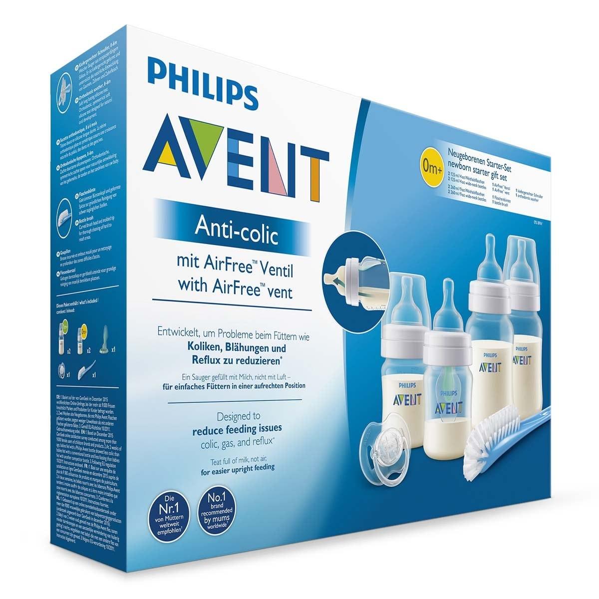 Set de Biberones Avent Anticolic con Sistema Antireflujo Airfree