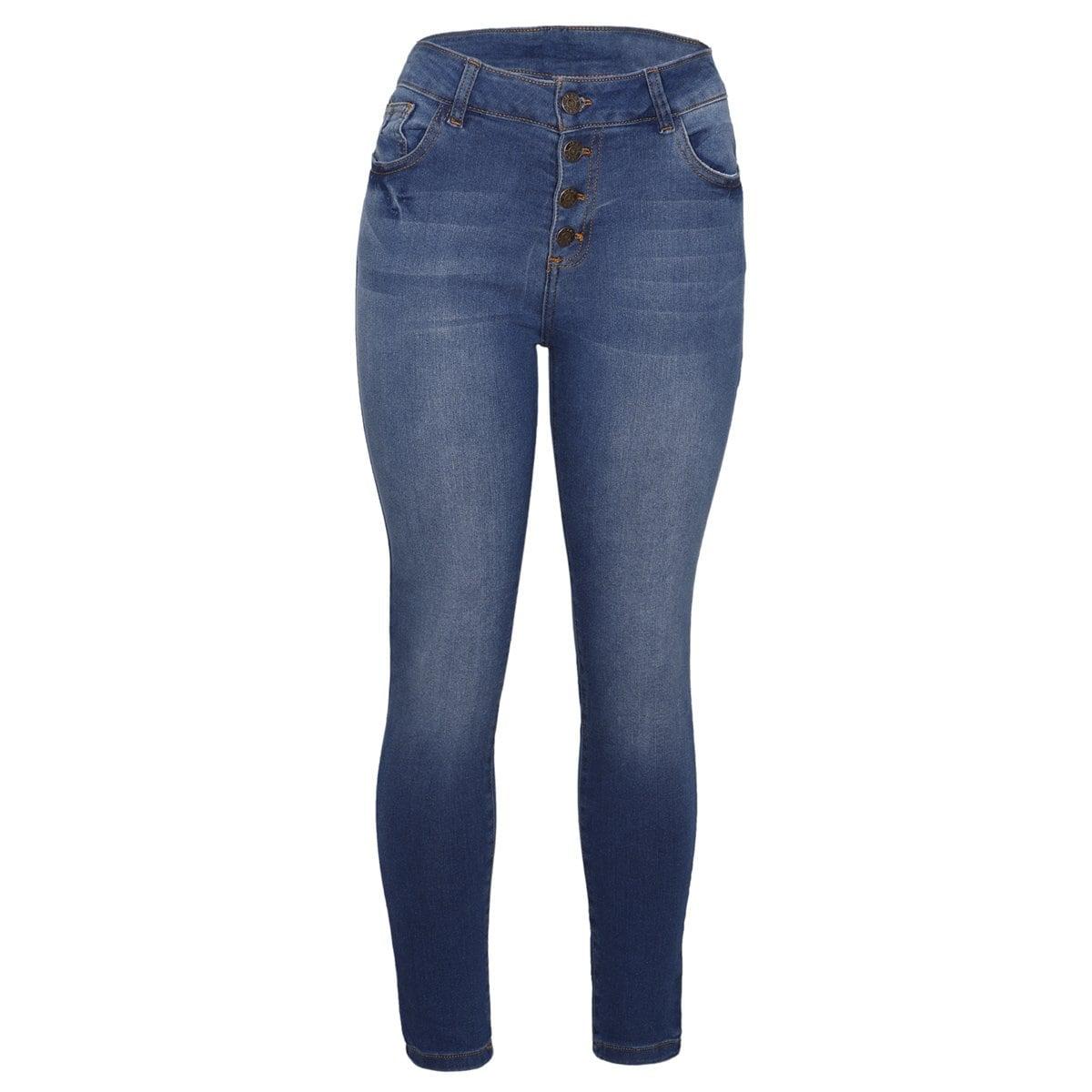 Pantalon Mezclilla Skinny Botones The Blue Revolution Para Dama