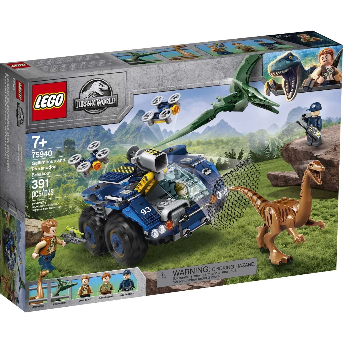 Fuga Del Gallimimus Y el Pteranodon Lego Jurassic World