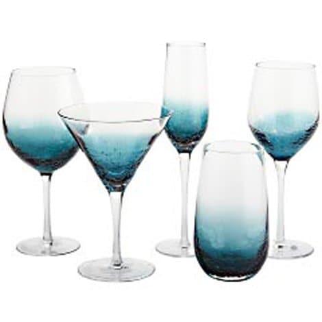 Copa para Agua Crackle Teal Blue Pier 1 Imports