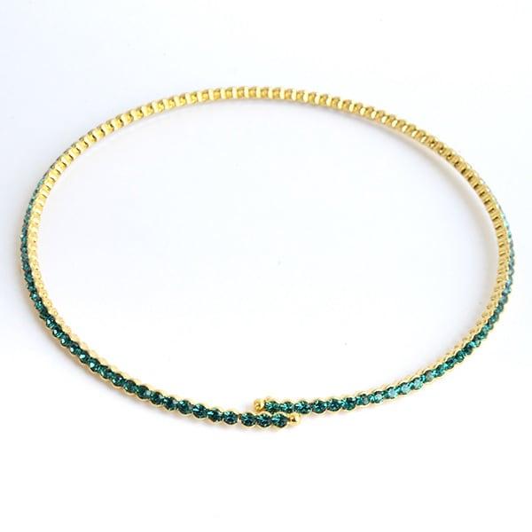 Gargantilla Delicada Baccarat-Baño Oro 18k