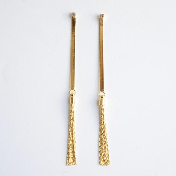 Arete Sofisticado-Baño Oro 18k