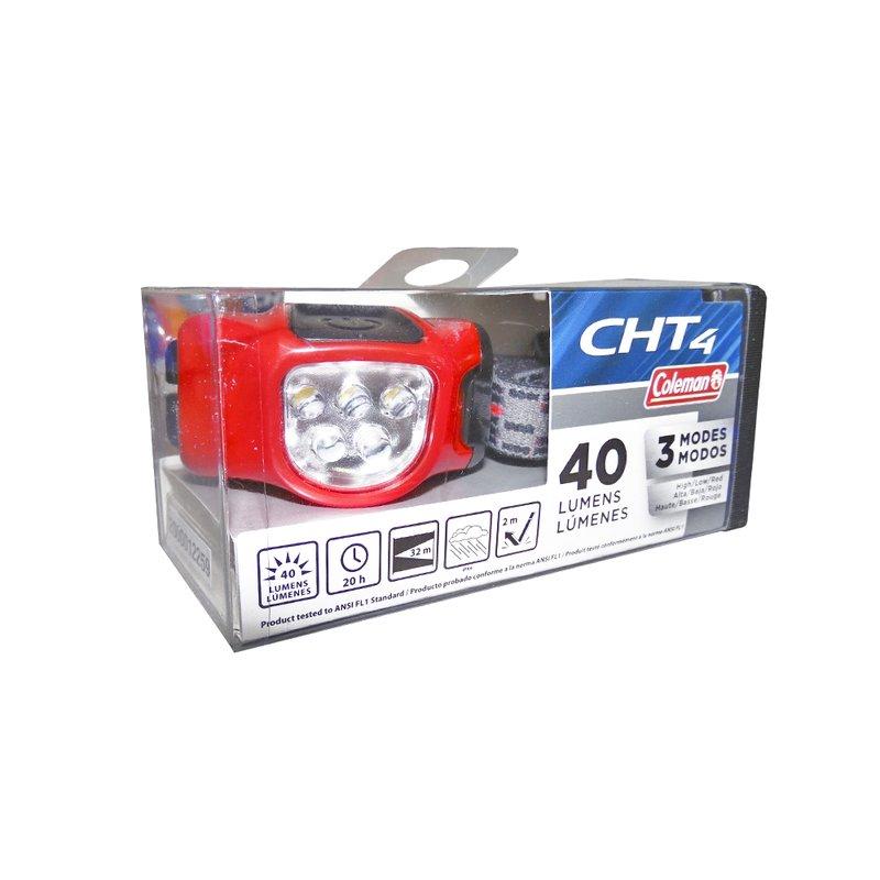 Lampara Manos Libres HeadLamp CHT4 40 Lumenes Bateria 2AAA Roja 2000012752 Coleman