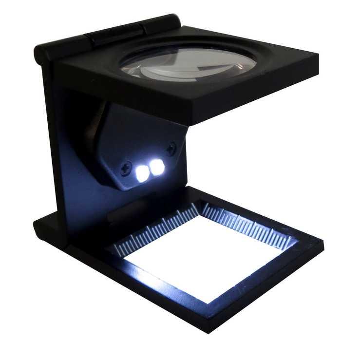 Lupa Cuenta hilo con Led 30 mm 8X Metal Cristal Th9005 B OBI