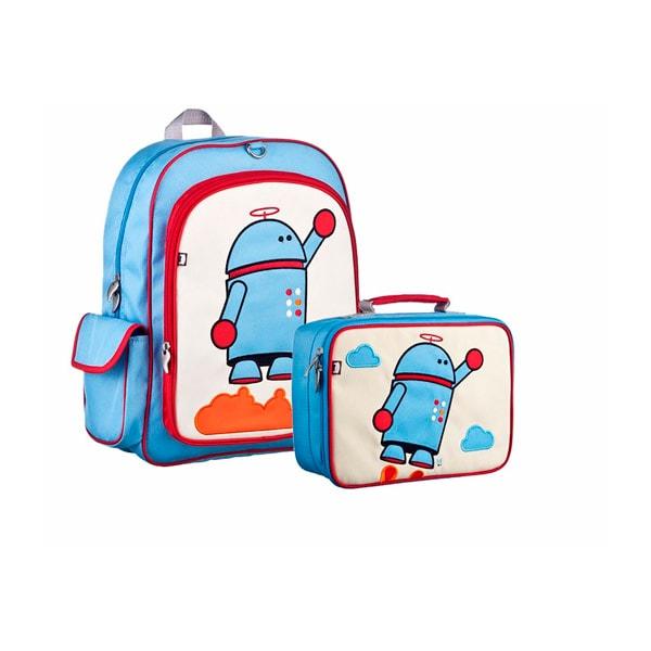 Mochila Escolar con Lonchera Beatrix Niño Escuela Maleta Robot