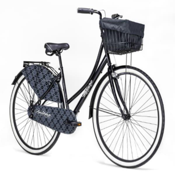 Oferta Bicicleta Urbana, Vintage Amsterdam r700 Negro con canastilla back pack