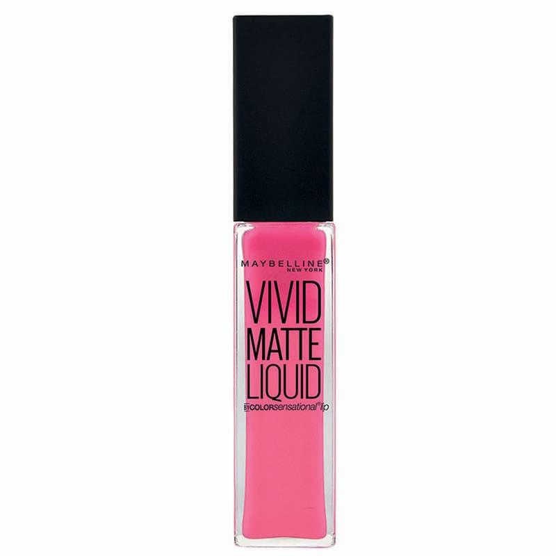 Labial Sensational Vivid Matte Labios Maquillaje Maybelline Electric Pink