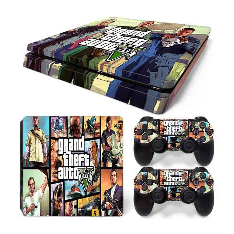 PS4 Slim Skin Estampas Para PlayStation 4 Slim (GTA V)