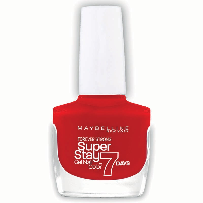 Esmalte Barniz Uñas Forever Strong Maquillaje Maybelline Passionate Red