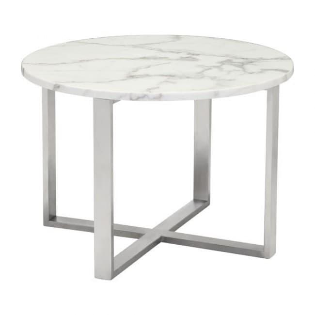 Mesa Lateral Modelo Globe - Blanco  - Këssa
