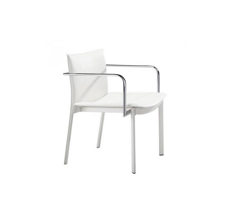 Silla De Oficina Gekko (Conferencia) - Blanco - Këssa