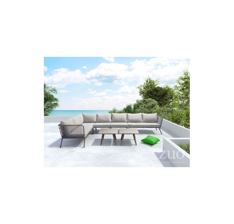 Sofa Para Exterior Pier Lado Derecho - Gris - Këssa
