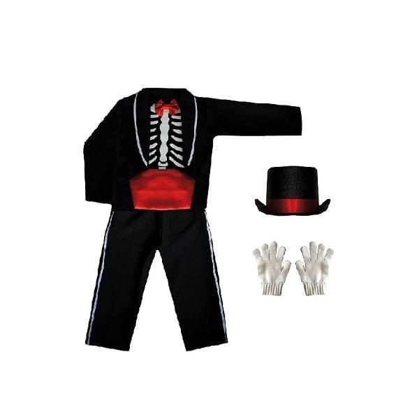 Disfraz de Halloween Catrin Muerte Niño Calaca - Disfraces TuDi