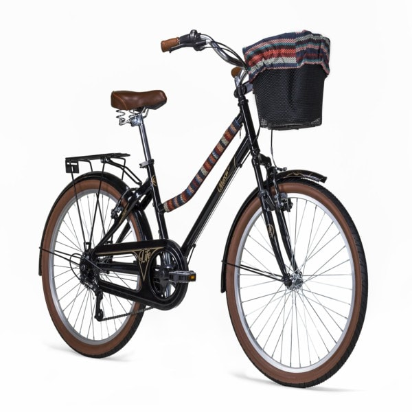 Bicicleta Mercurio LIFE R24, Negro/Cafe