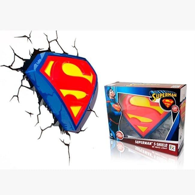 Lampara Decorativa Pared 3D Light Logo Superman DC Comics