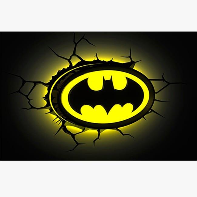 Lampara Decorativa Pared 3D Light Logo Batman DC Comics