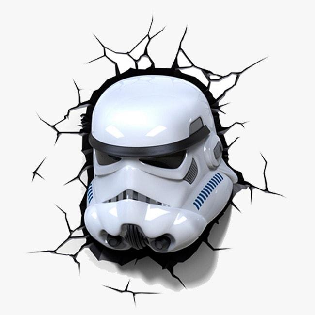 Lámpara 3D Star Wars Stormtrooper Episode VII The Force Awakens