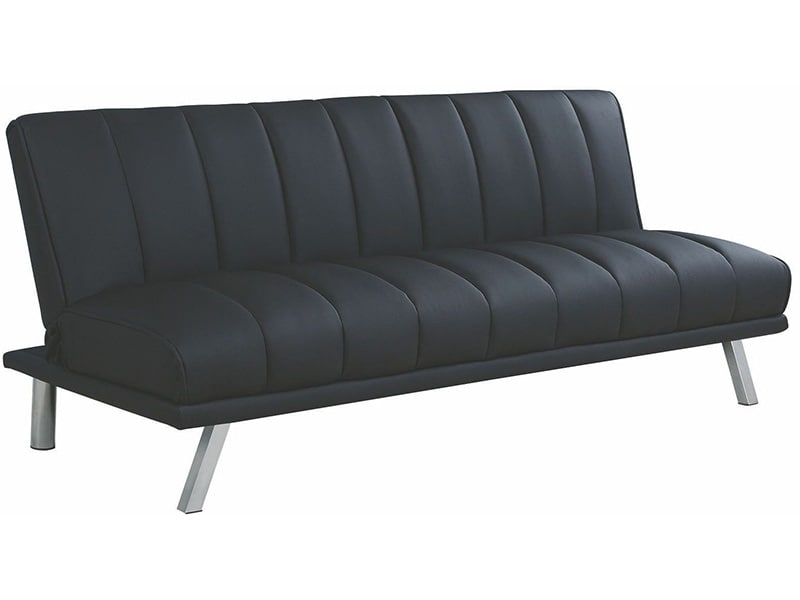 Sofá cama, color negro- Coaster 300701