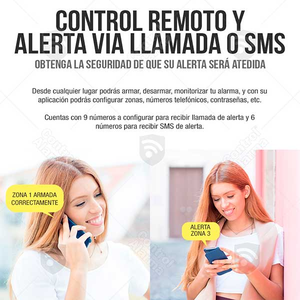 Kit 20 Alarma Dual Gsm Cel Alerta Sms Inalambrica App Vecinal Casa
