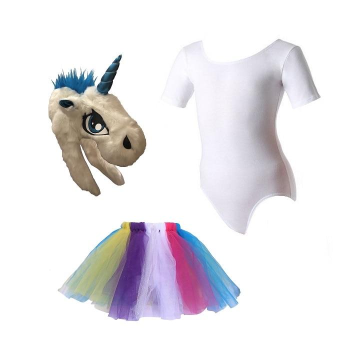 Disfraz de Halloween Unicornio Vestido Tutu Niña Festival Animal - DISFRACES TuDi