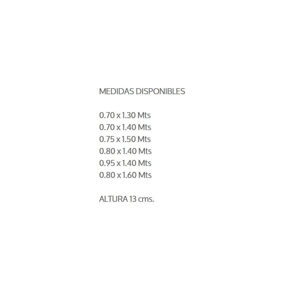 Colchon Baby Air 80x140 Cuna Blanco - Këssa