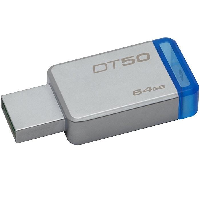 Memoria Flash USB 3.0 Kingston DataTraveler 50 64GB Metalica DT50/64GB