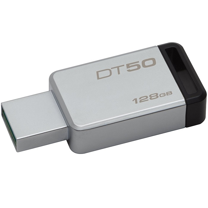 Memoria Flash USB 3.0 Kingston DataTraveler 50 128GB Metalica (DT50/128GB)