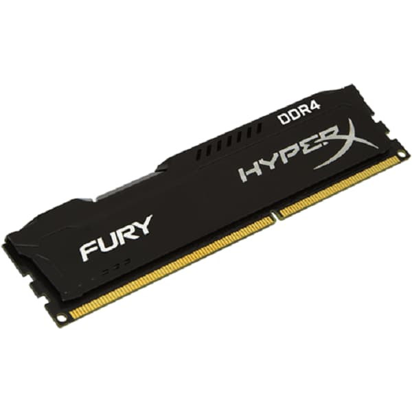 Memoria Ram DDR4 Kingston HyperX Fury 2400 MHz 4 GB PC4-19200 Negra HX424C15FB/4