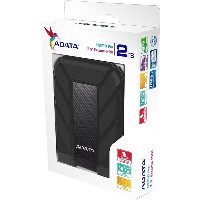 Disco Duro Externo Adata HD710 PRO 2 TB USB 3.0 Negro AHD710P-2TU31-CBK