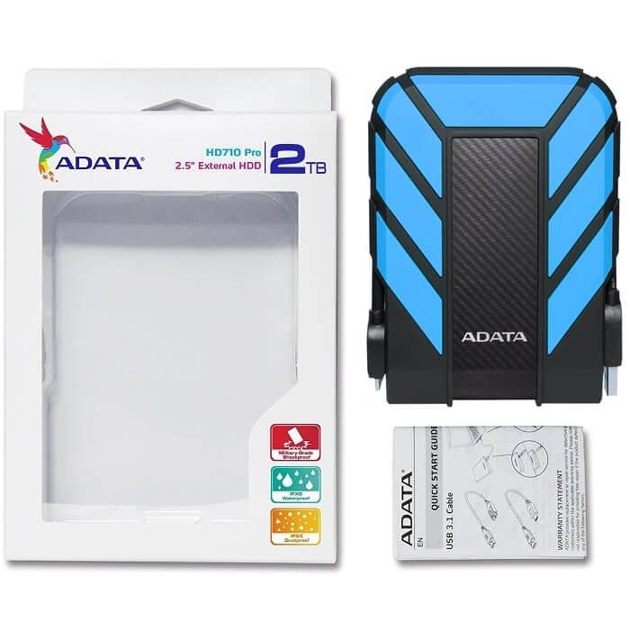Disco Duro Externo Adata HD710 PRO 2 TB USB 3.0 Azul AHD710P-2TU31-CBL