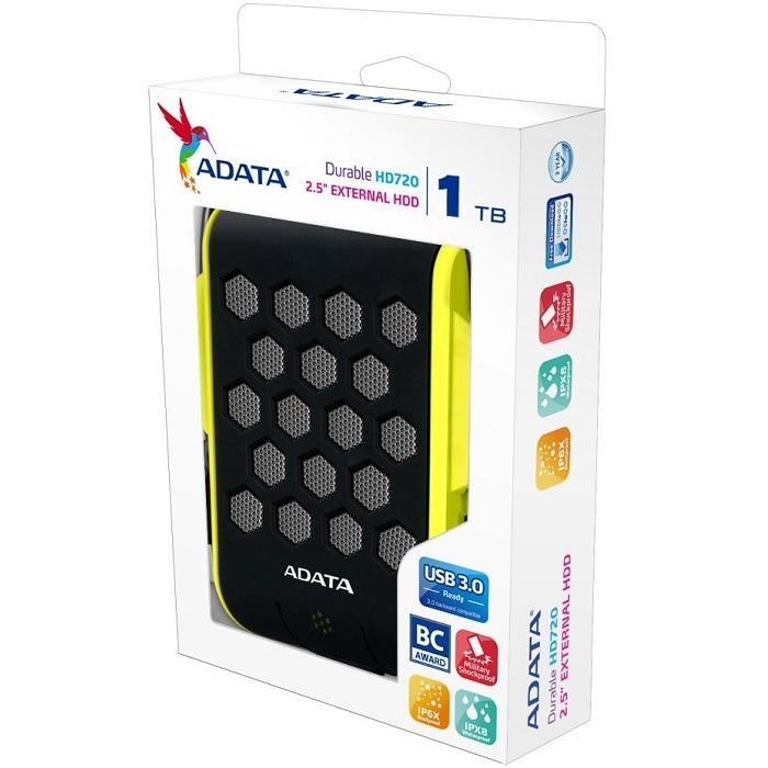 Disco Duro Externo Adata HD720 1 TB USB 3.0 Verde AHD720-1TU3-CGR