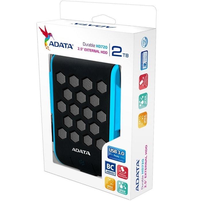 Disco Duro Externo Adata HD720 2 TB USB 3.0 Azul AHD720-2TU3-CBL