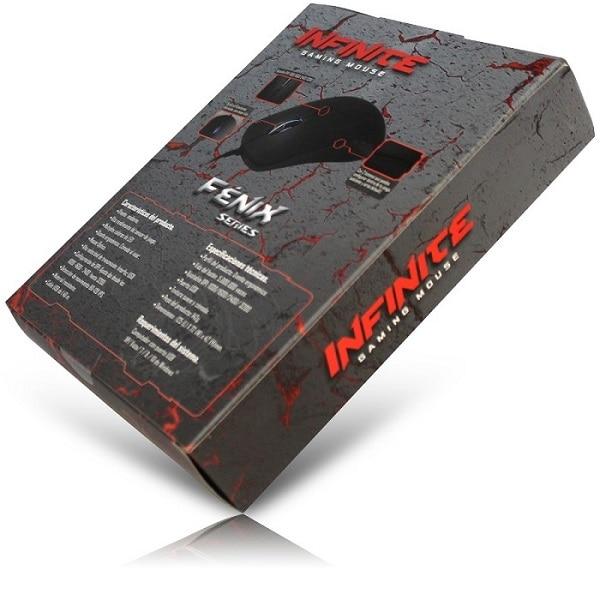 Mouse Eagle Warrior Alambrico Optico USB Fenix Infinite Iluminado 3200 DPI MOJ936UMG37EGW