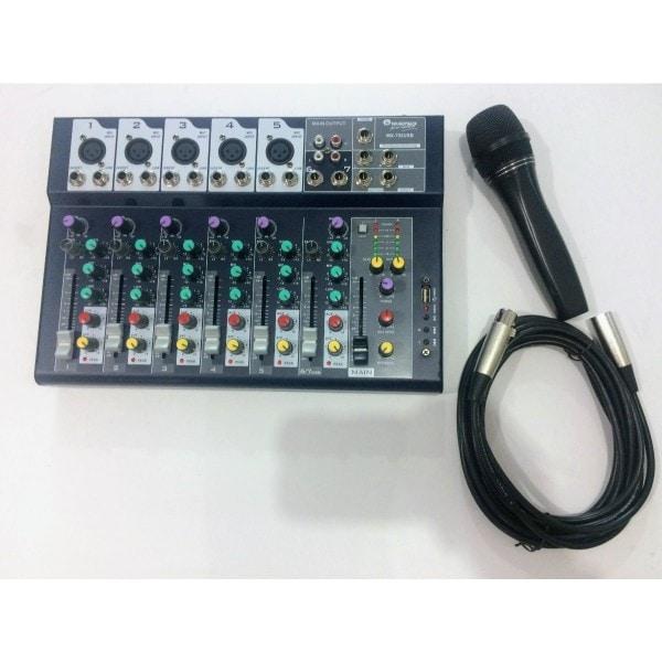 Mezcladora pasiva MX702USB 7 canales Soundtrack