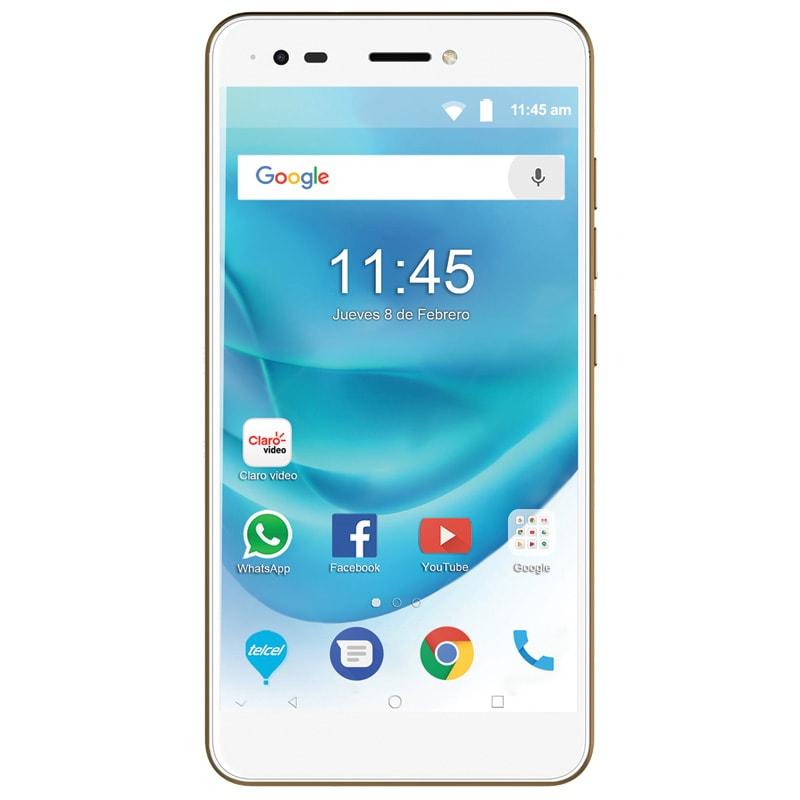 Celular ZTE LTE A6 MAX Color DORADO Telcel