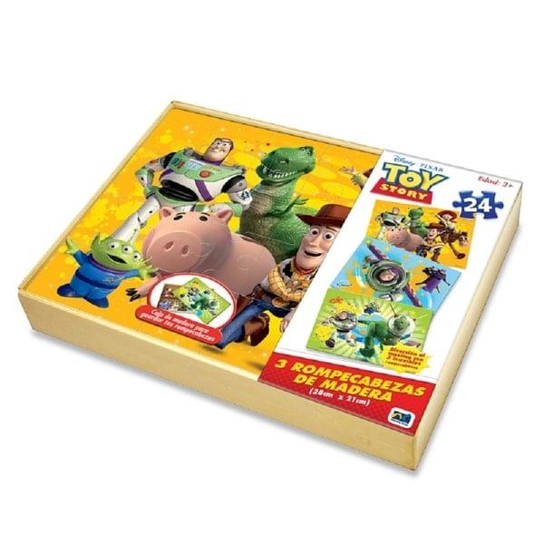 Rompecabezas de Madera 3 En 1 Toy Story 24 Piezas