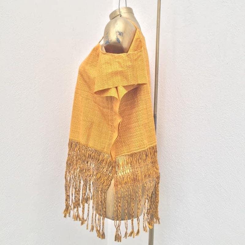 Blusa Artesanal De Rebozo Mexicano Amarilla